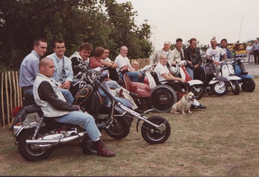 Midhurst Detours scooter club in the 1980s