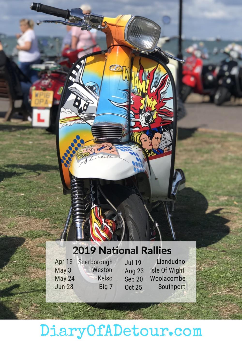 Andy Warhol custom scooter wallpaper with 2019 national rally dates