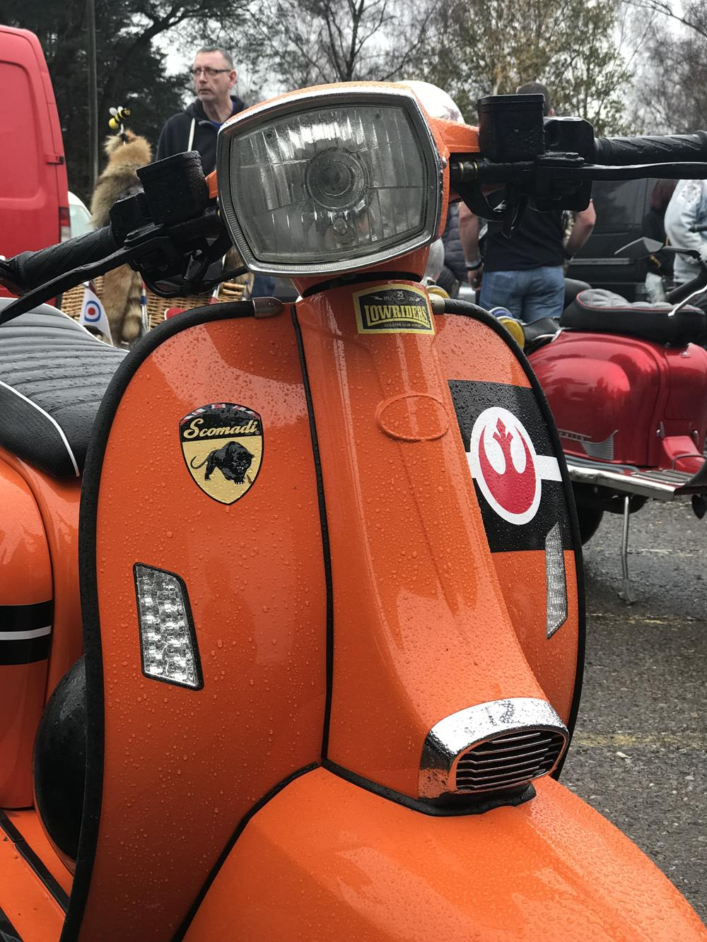 Orange Scomadi scooter