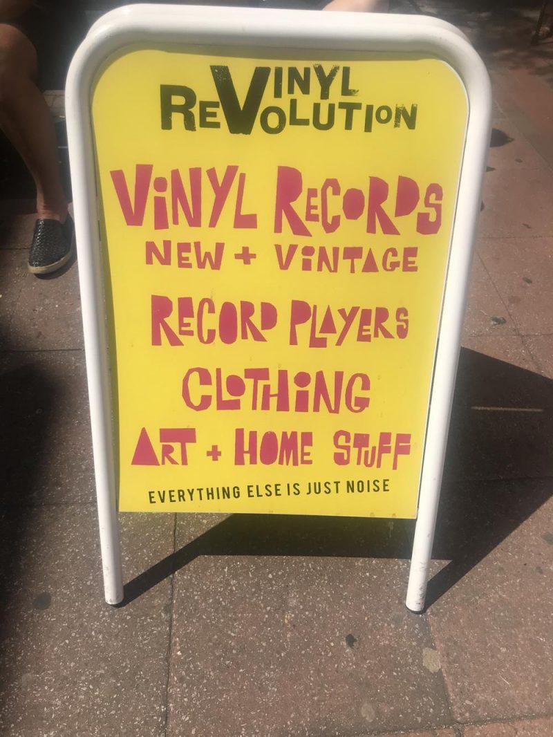 Vinyl Revolution advertising board