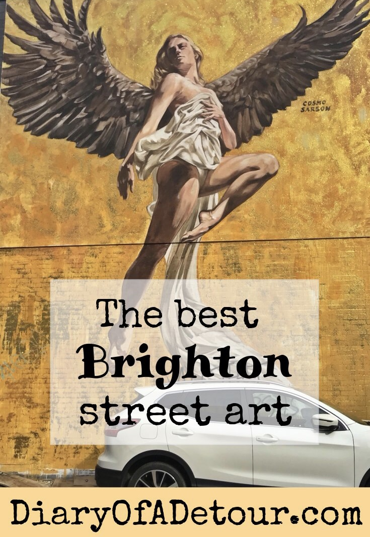 The Angel of Brighton by Cosmo Sarson features in the Best Brighton Street Art