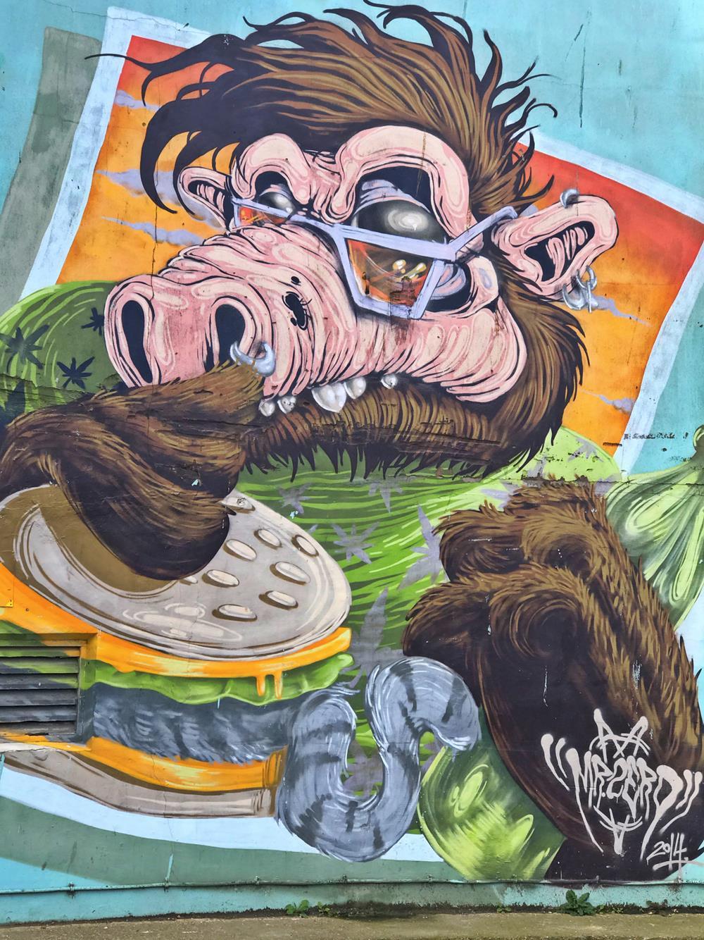 Street art near Donatello in Brighton