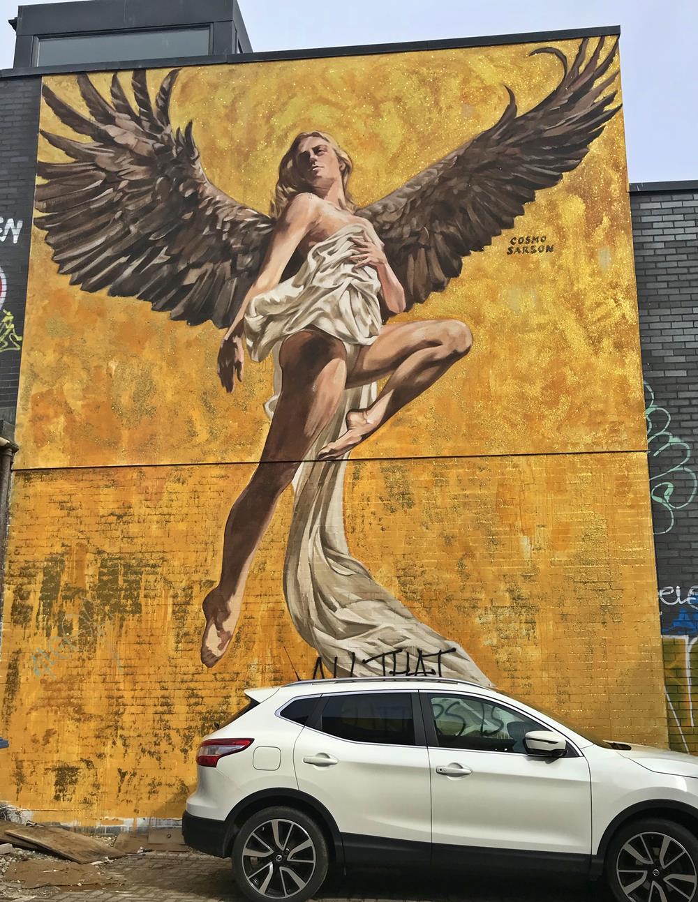 Cosmo Sarson's handpainted Angel of Brighton