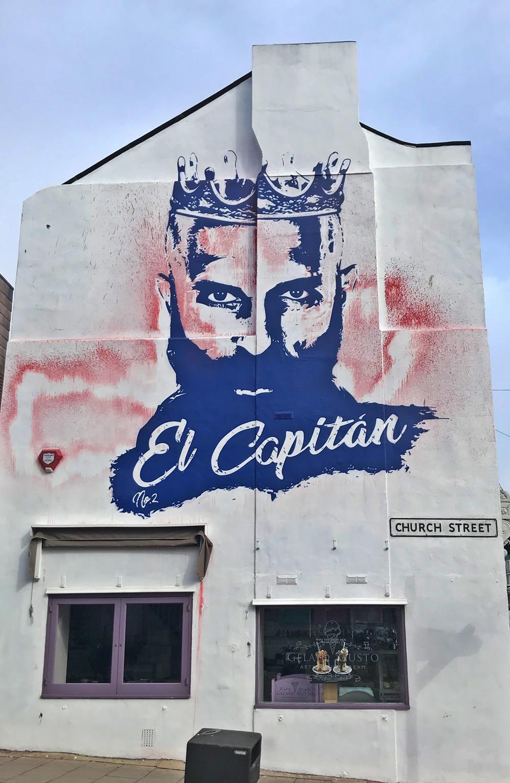 El Capitan street art in Brighton's North Laines