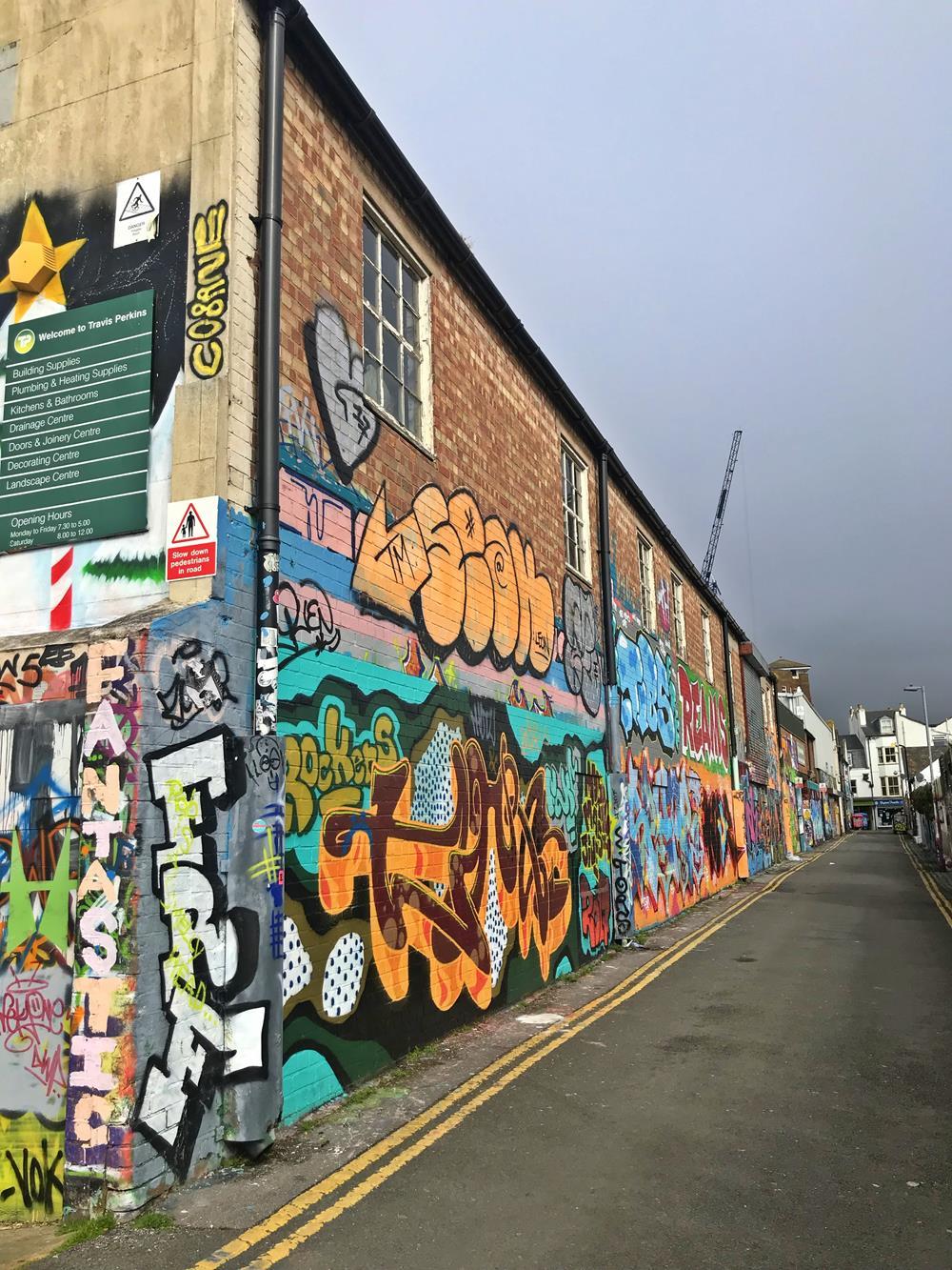 Trafalgar Lane is one of the best locations for Brighton street art