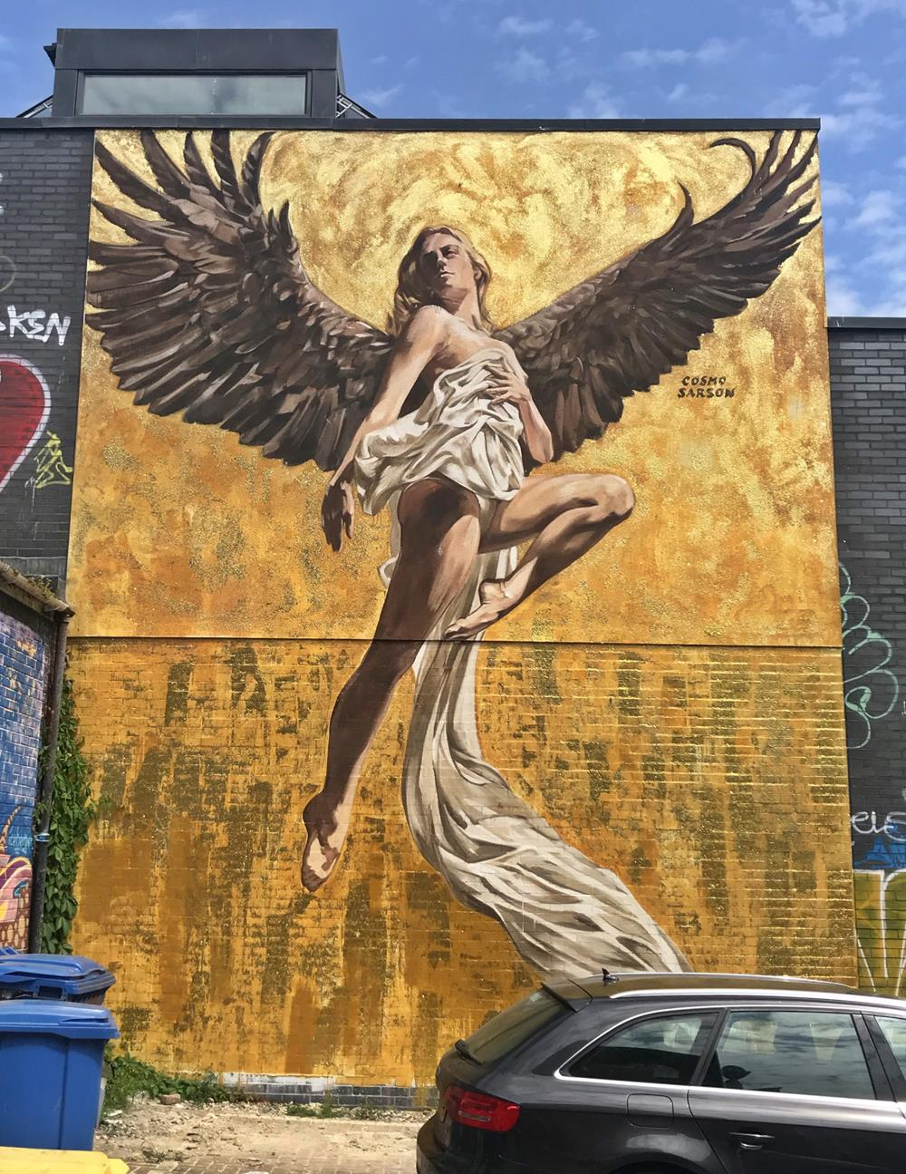 Angel of Brighton wall mural by Cosmo Sarson