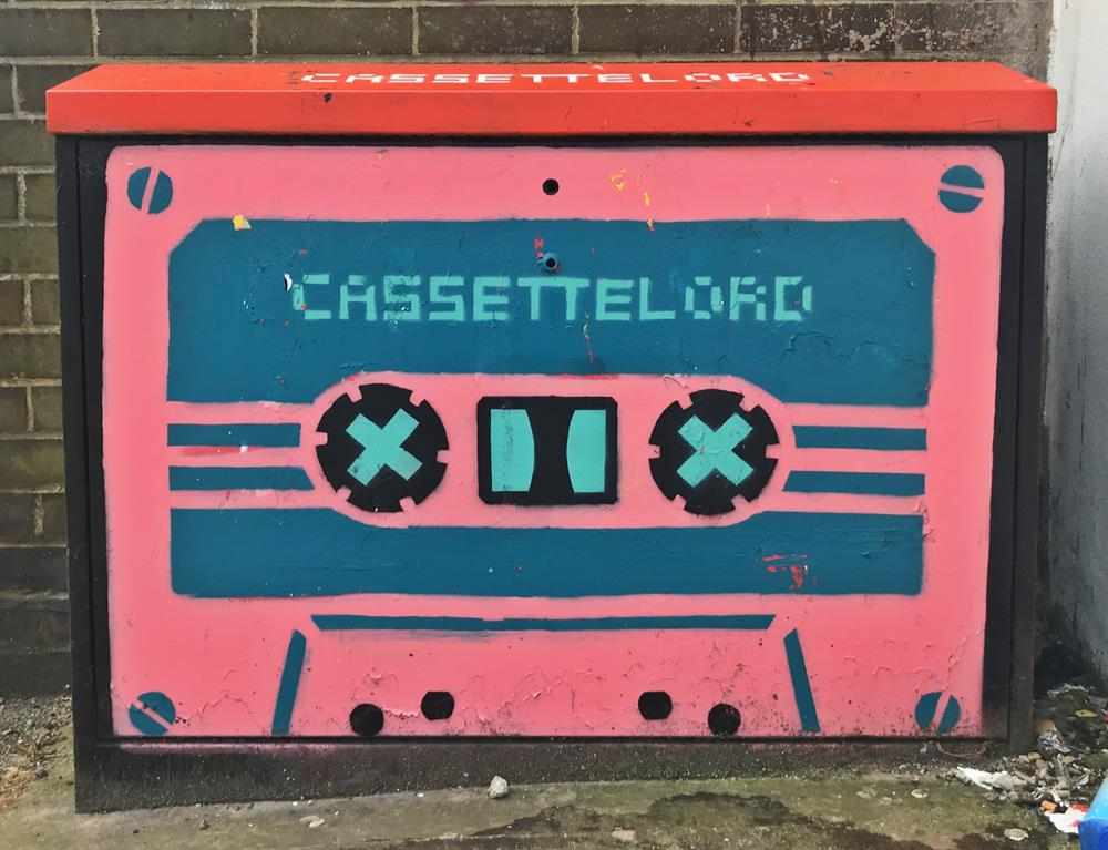 Cassette Lord graffiti on a Brighton junction box