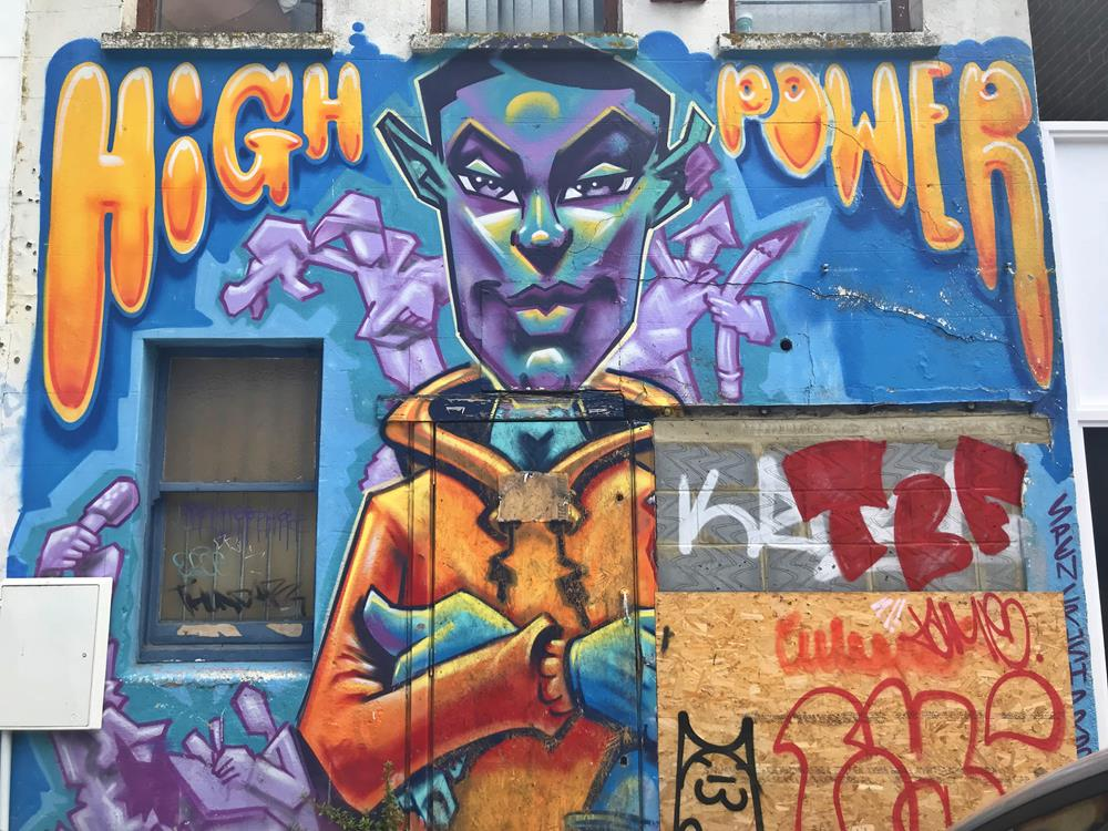 High Power wall art in Brighton