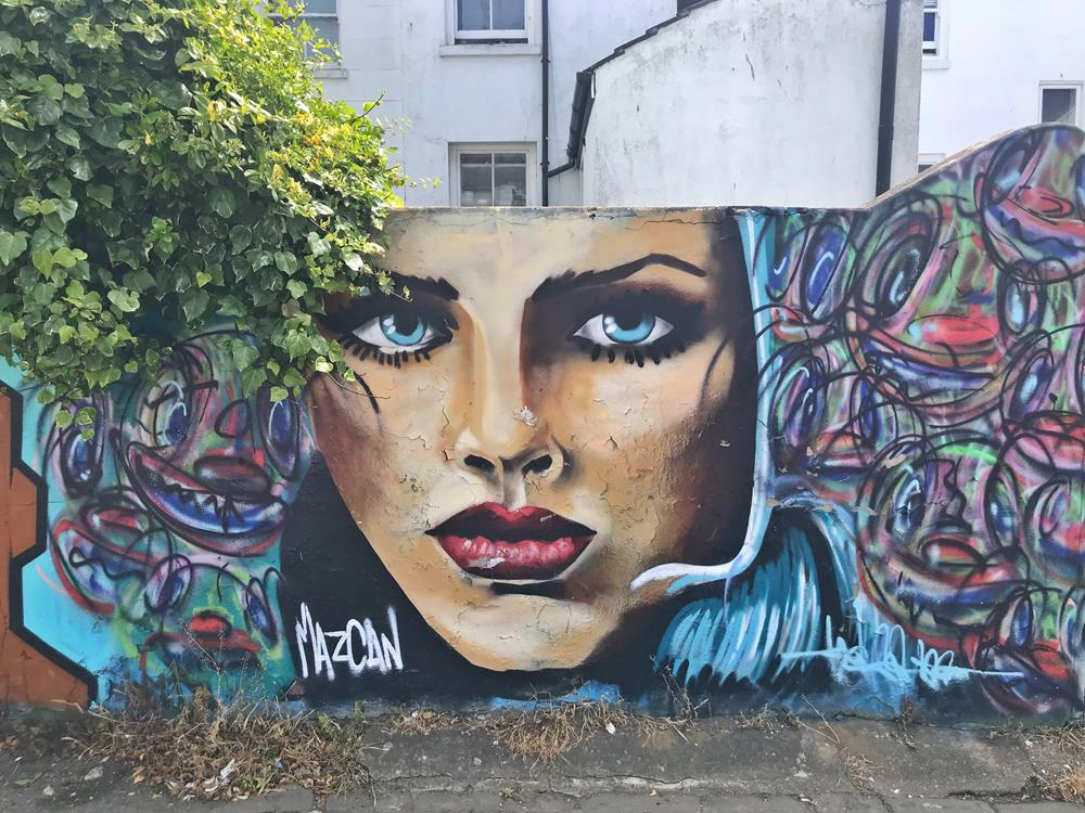 Work by Mazcan in Trafalgar Lane, Brighton