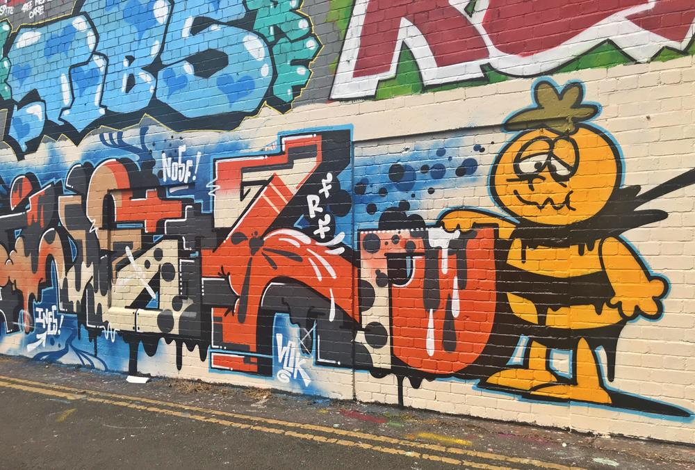 Brighton graffiti in the North Laines