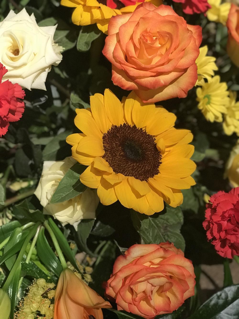Sunflower floral arrangement