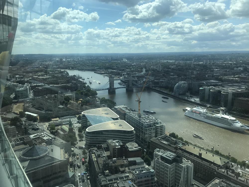View of Tower Bridge from Sky Garden