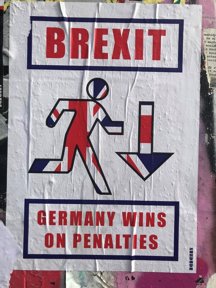 Brexit paste up street art from Shoreditch