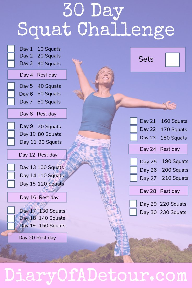 graphic about 30 Day Squat Challenge Printable titled 30 working day squat dilemma : a health and fitness issue for all techniques
