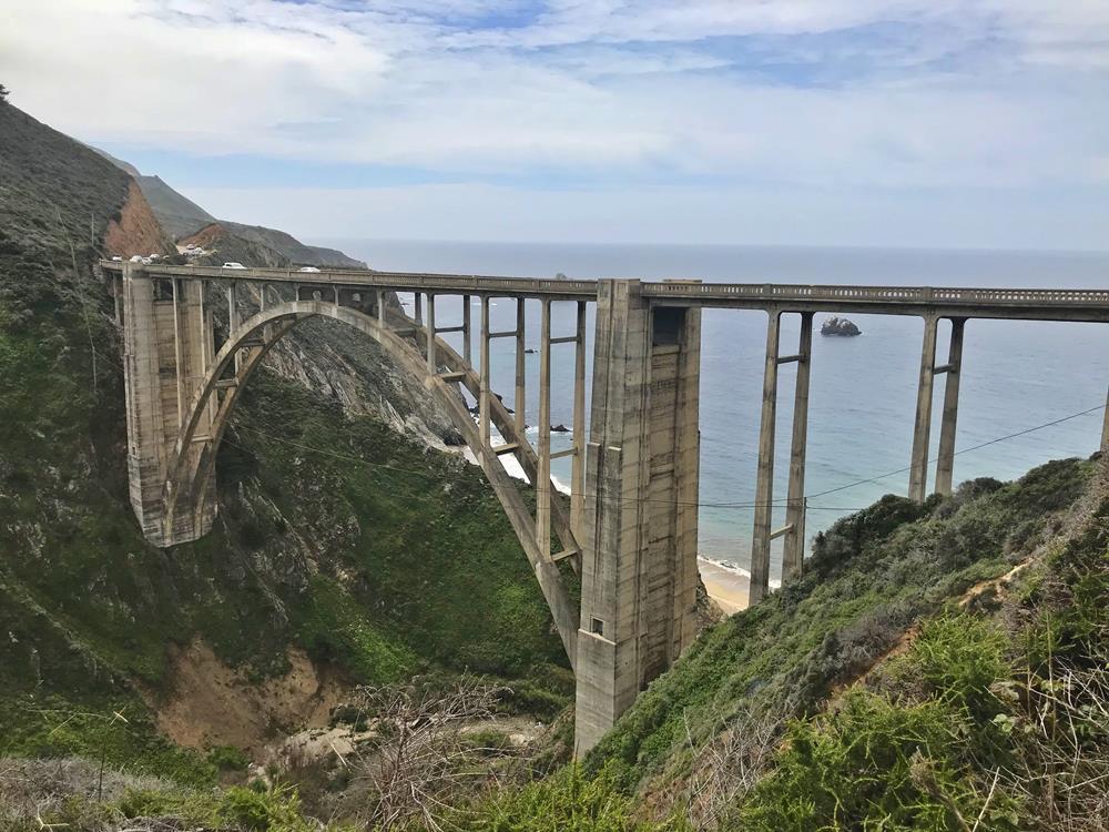 View of the Bixby Bridge in Big Sur, California