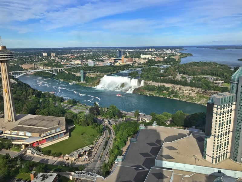 View of American Falls from 49th floor of hotel