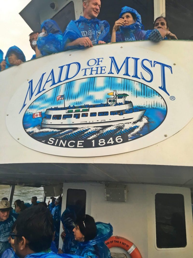 Close up view of the Maid of the MIst logo on the boat which was the highlight of our one day in Niagara