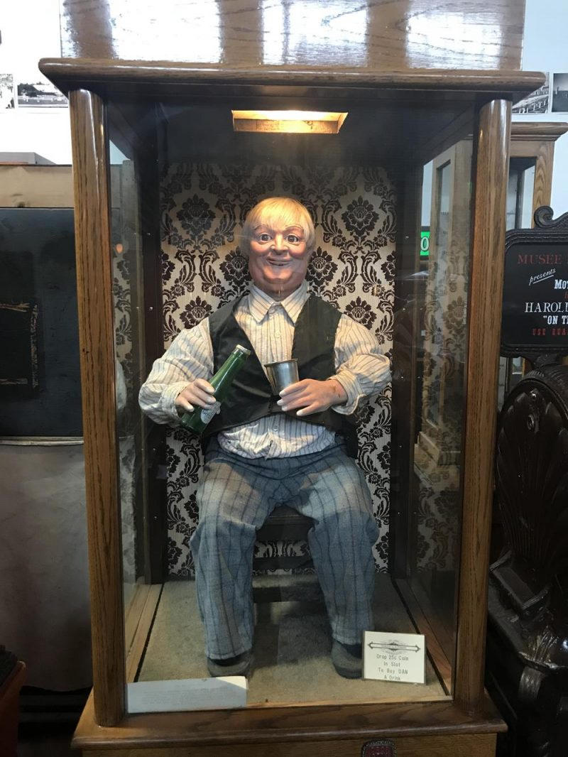 Vintage fortune telling machine which looks like an old man