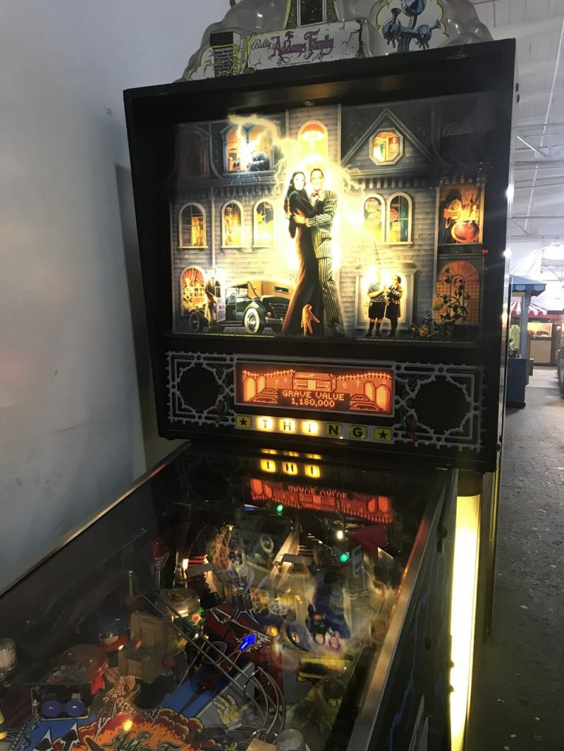 Addams Family pinball machine at Musee Mecanique