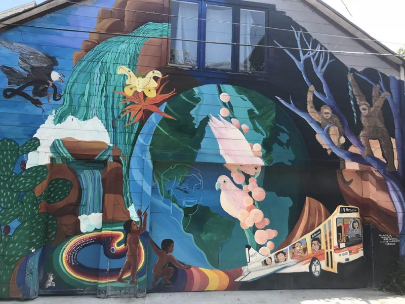 Wall mural at Balmy Alley