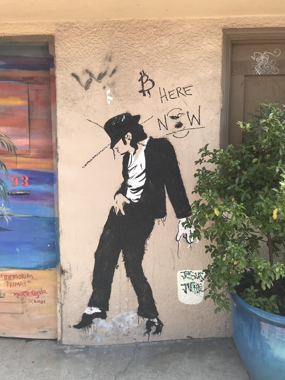 Michael Jackson street art at Balmy Alley
