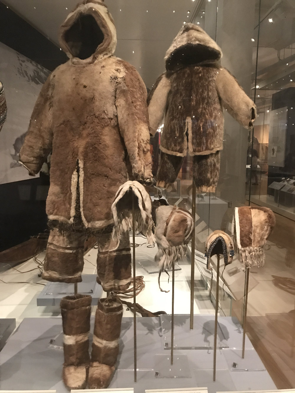 Inuit outfits at the Museum of Ontario in Toronto