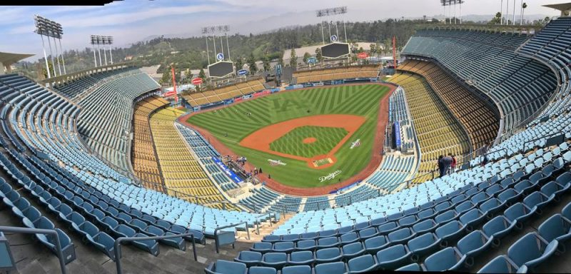 Panoramic view of the Dodgers Stadium