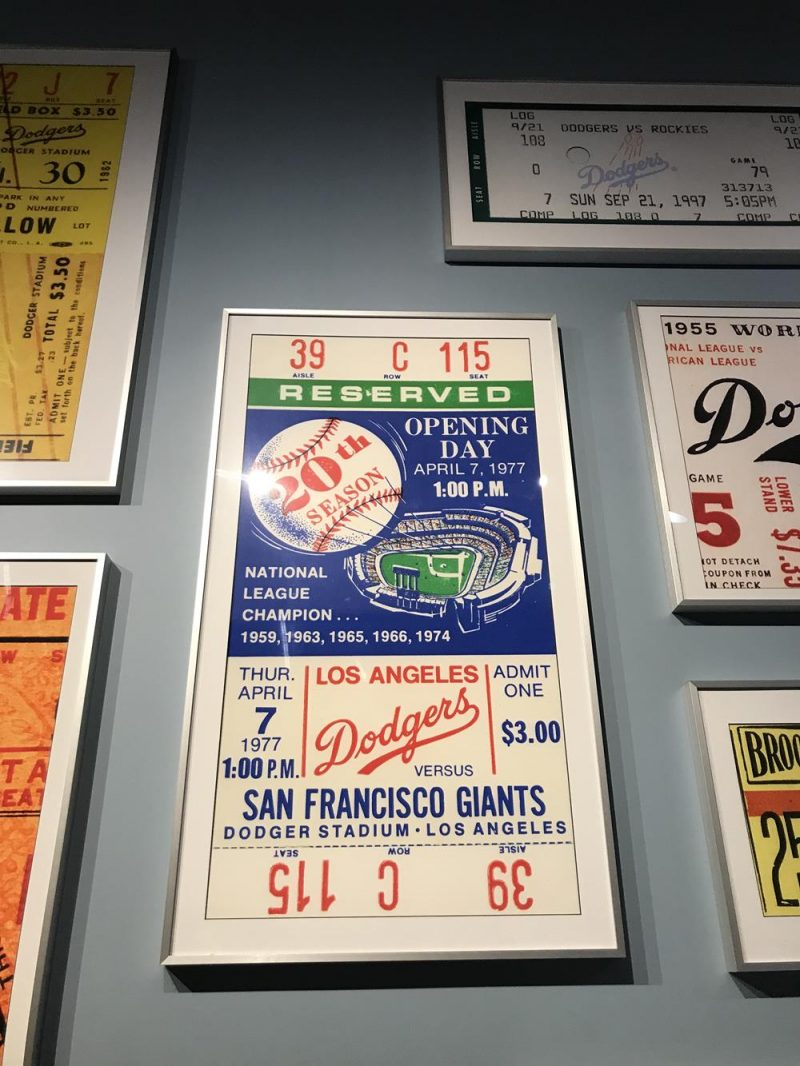 Posters at the Dodger Stadium