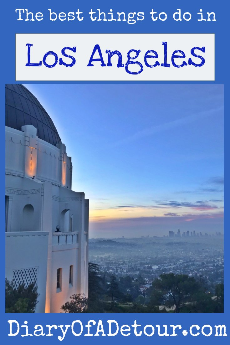 The best things to do in LA main image including view from Griffith Observatory at sunrise