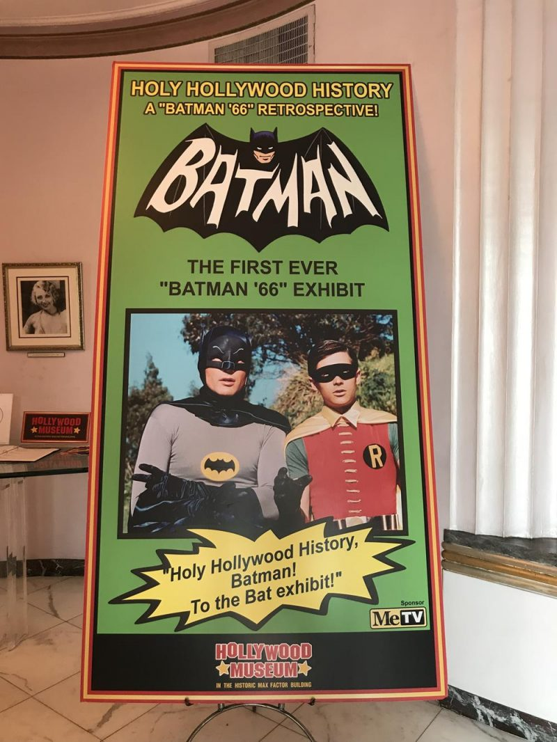 Batman exhibition stand at the Hollywood Museum