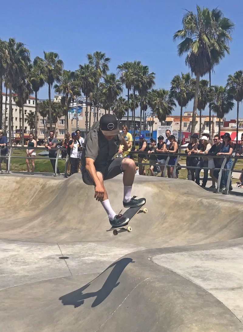 Skateboarder at Venice Beach