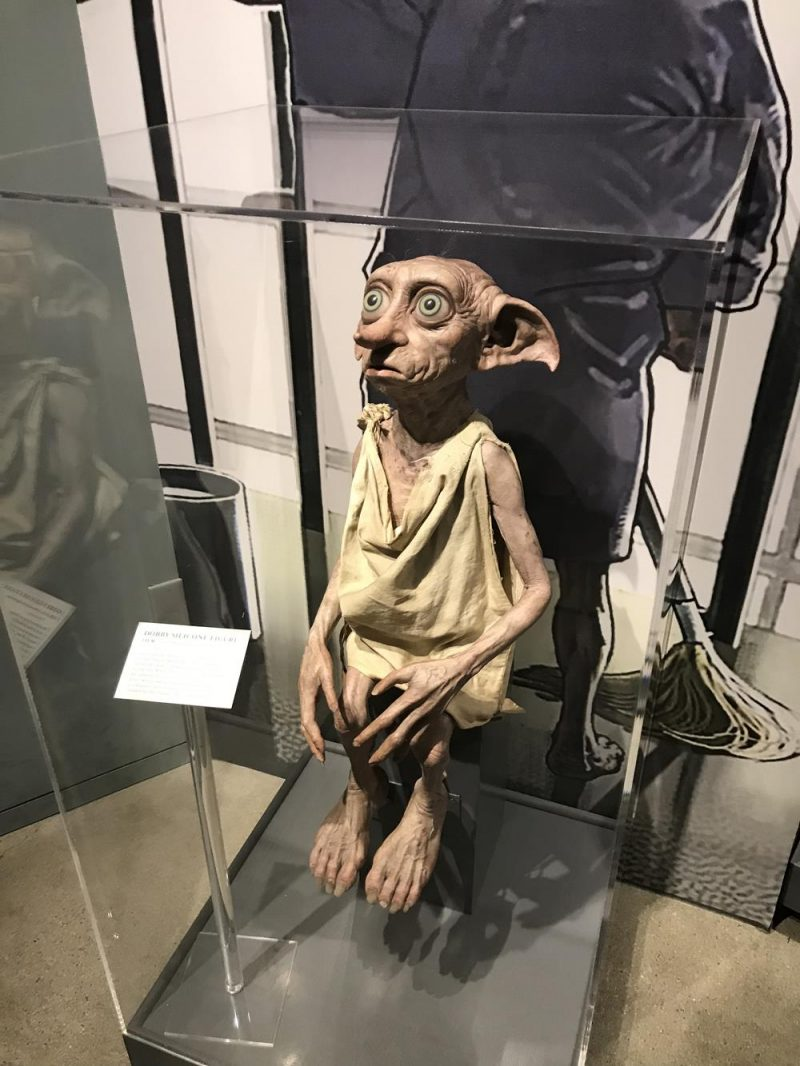 Dobby at Harry Potter building at Warner Bros