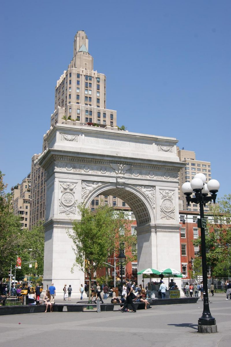Washington Square arch in Greenwich Village