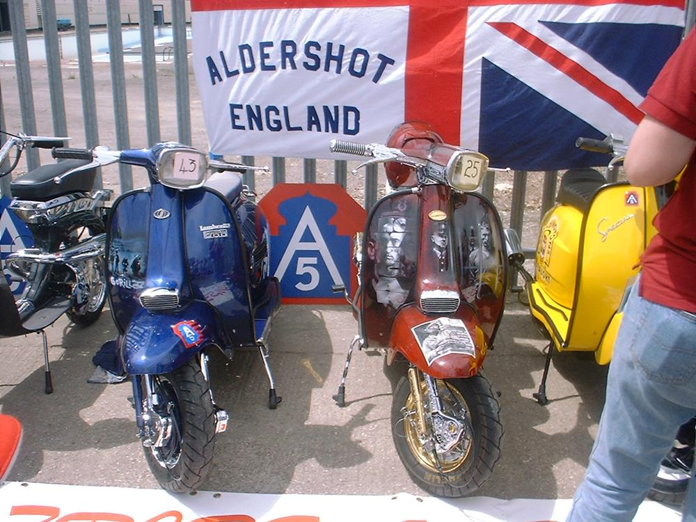 A5 Scooter Club from Aldershot display at the Portsmouth scooter custom show