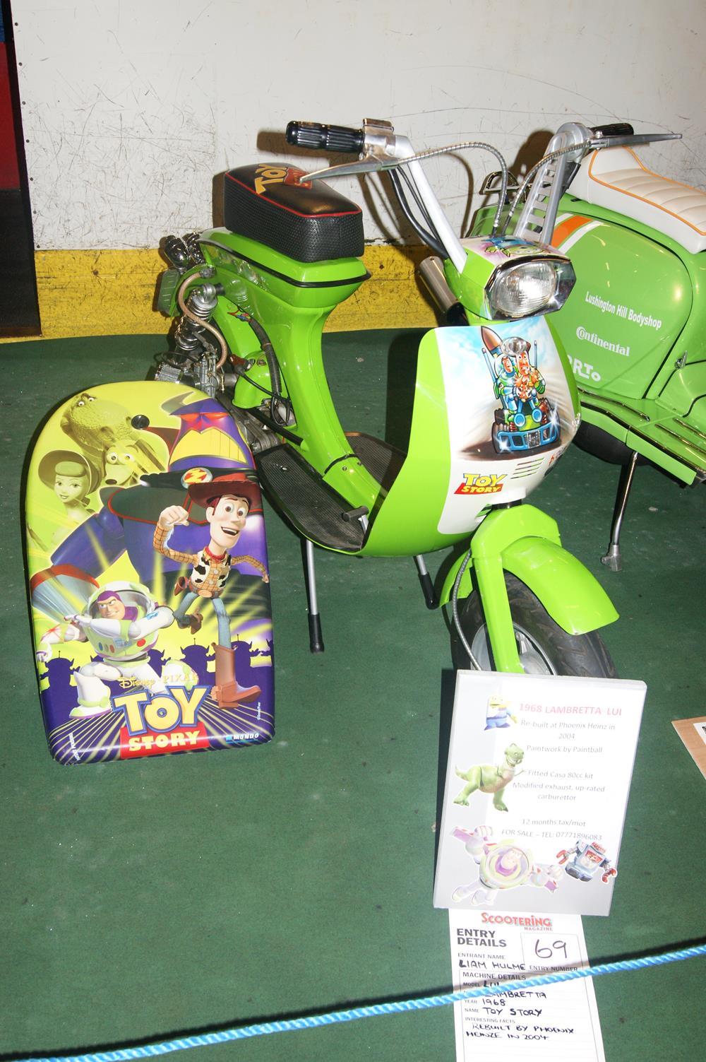 Toy Story themed custom Vega scooter