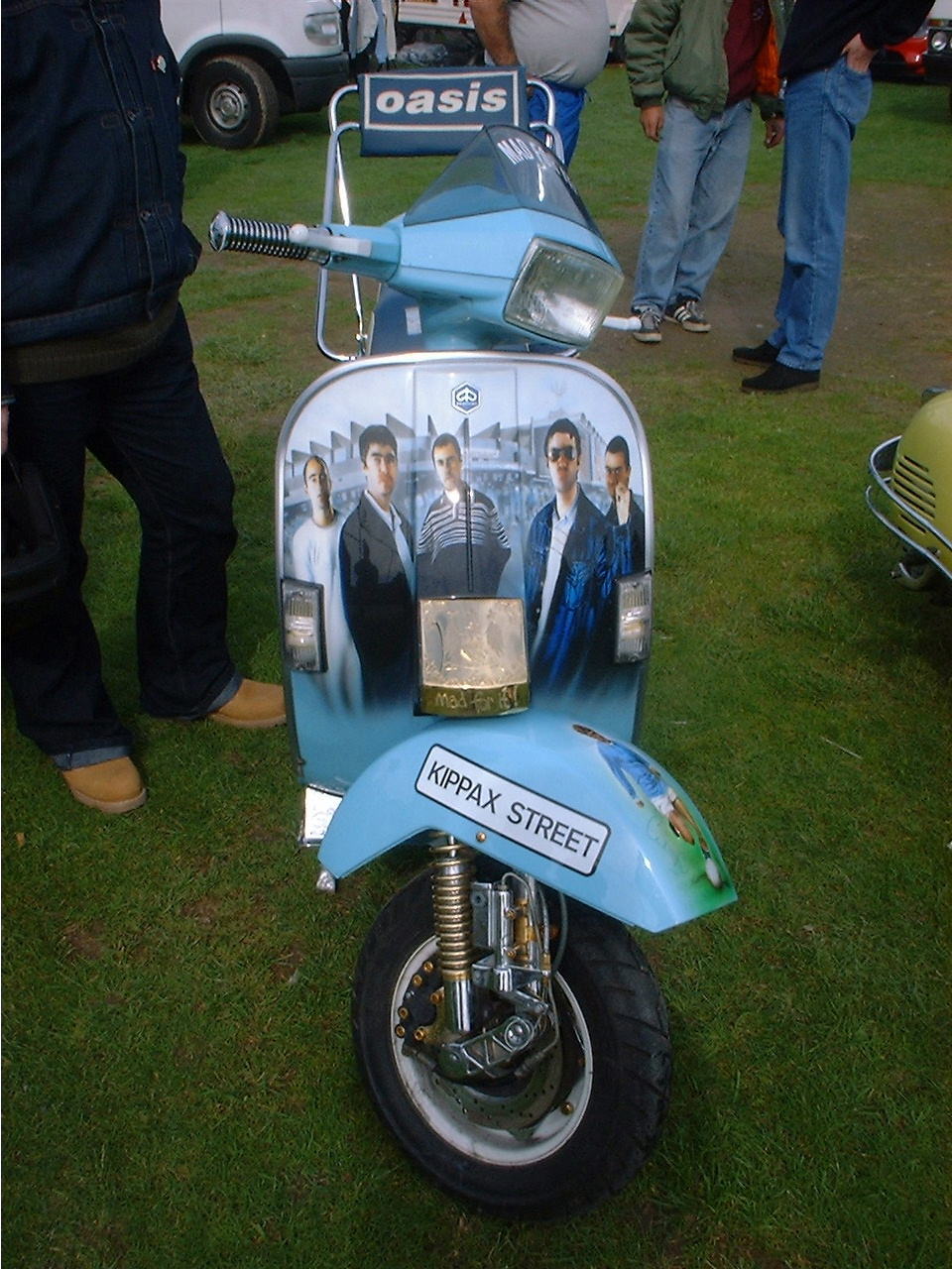 Oasis and Manchester City themed custom Vespa