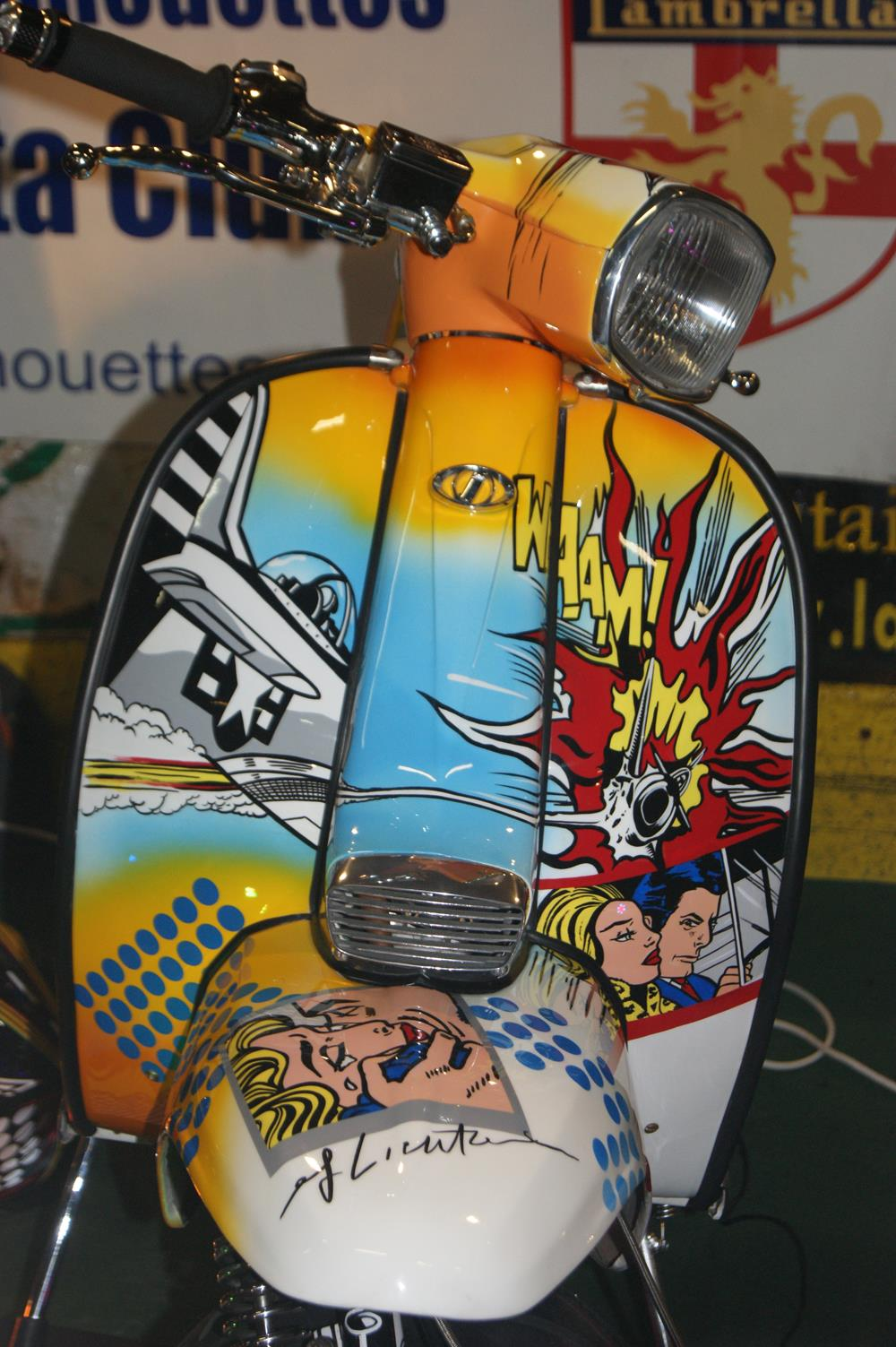 Lichtenstein pop art Lambretta scooter