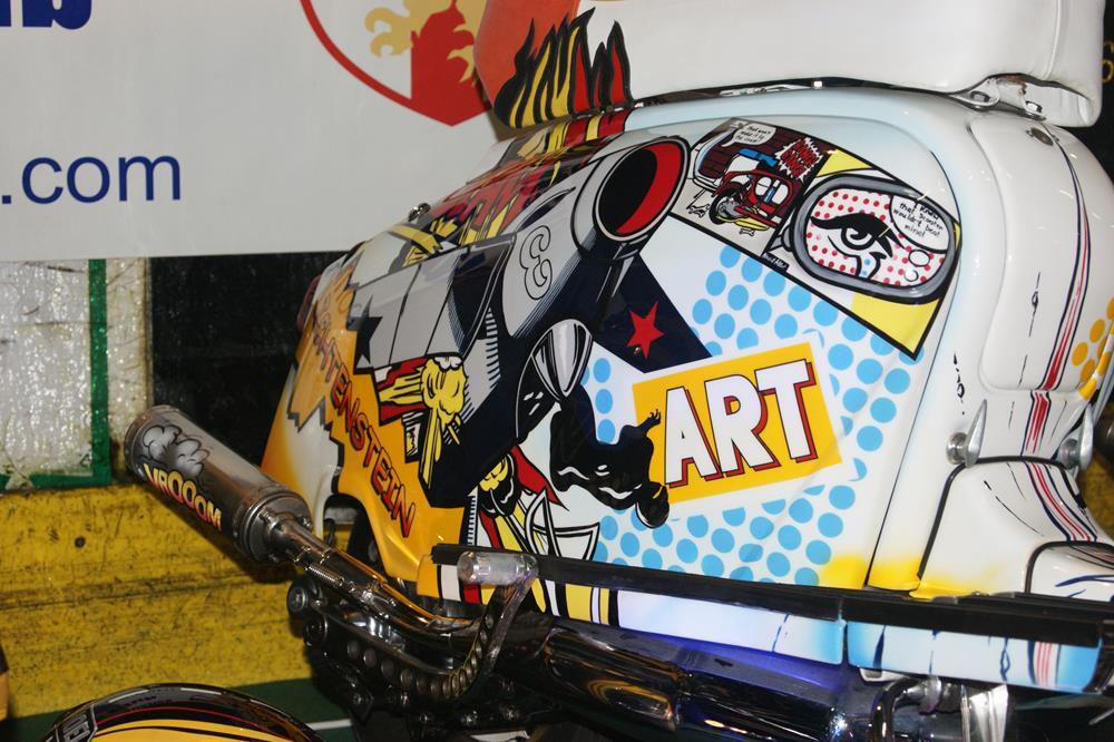 Side panel from Lichtenstein pop art themed Lambretta
