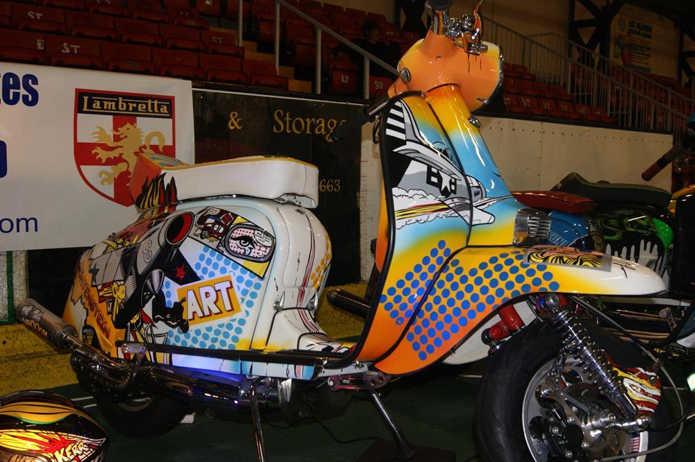 Pop art themed custom Lambretta