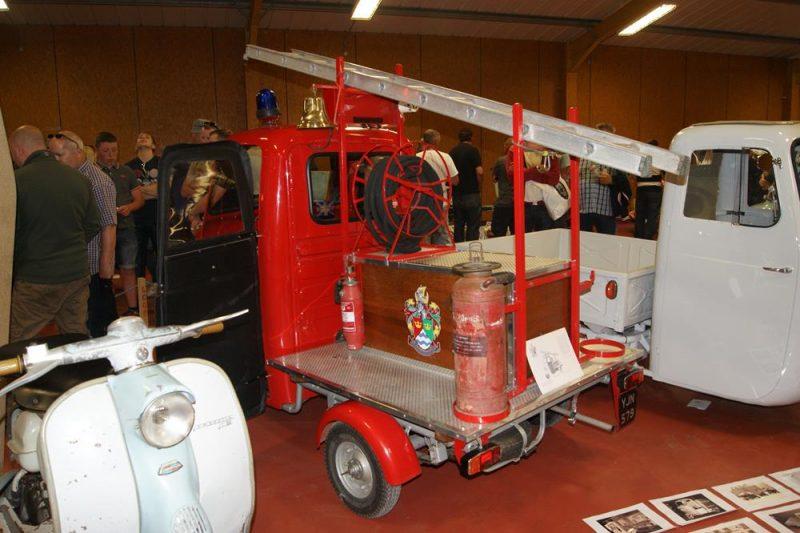 Fire engine Lambretta scooter