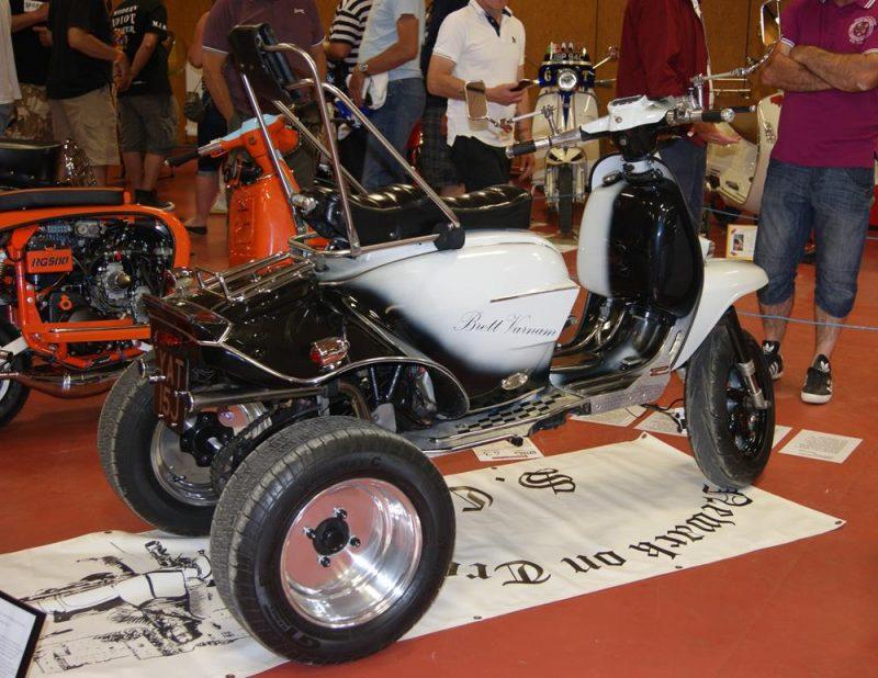 Lambretta trike at the Isle of Wight custom show