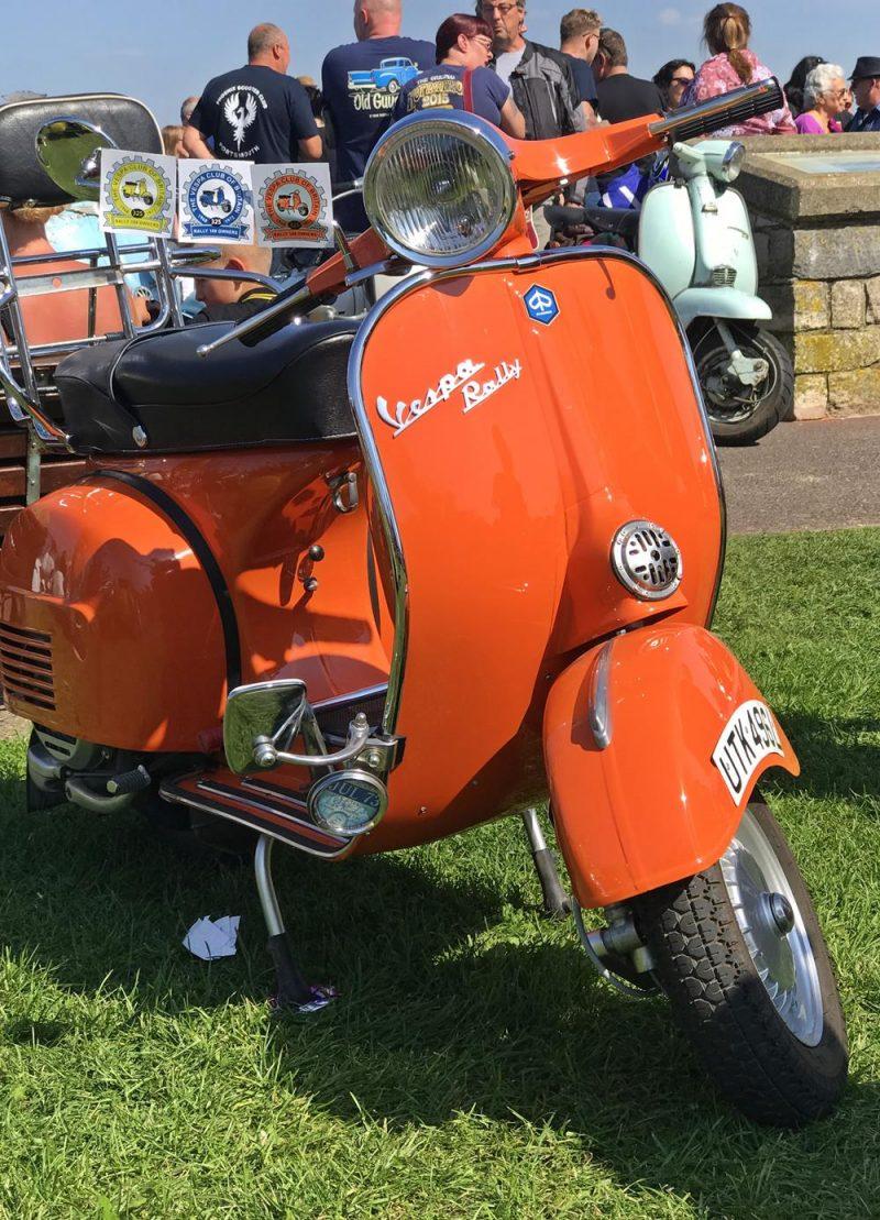 Orange vintage Vespa scooter