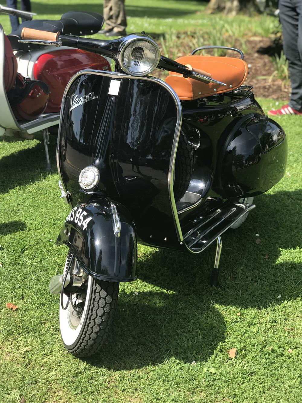 Black vintage Vespa