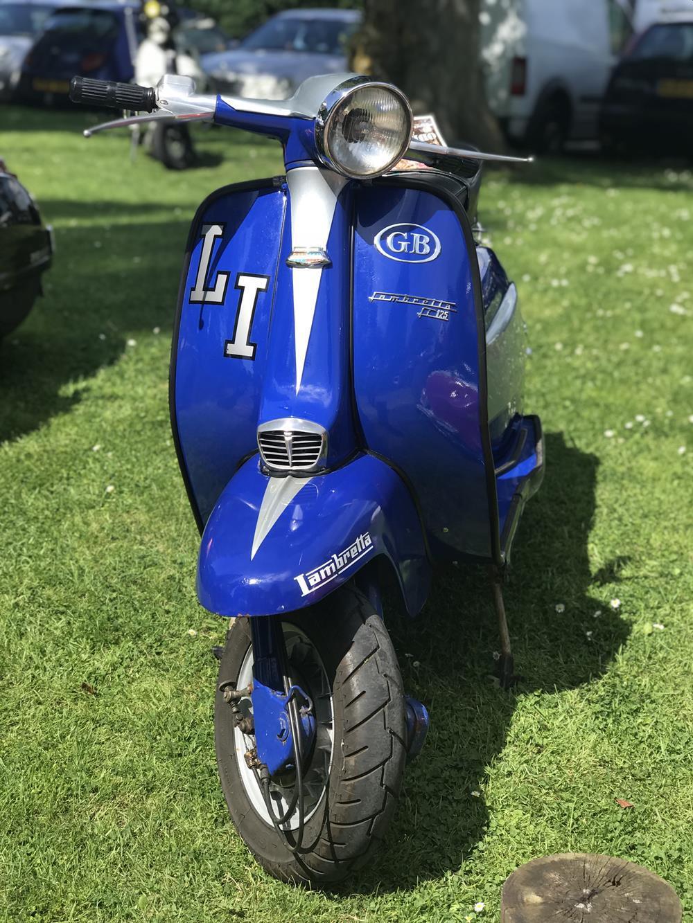 Blue LI Lambretta scooter
