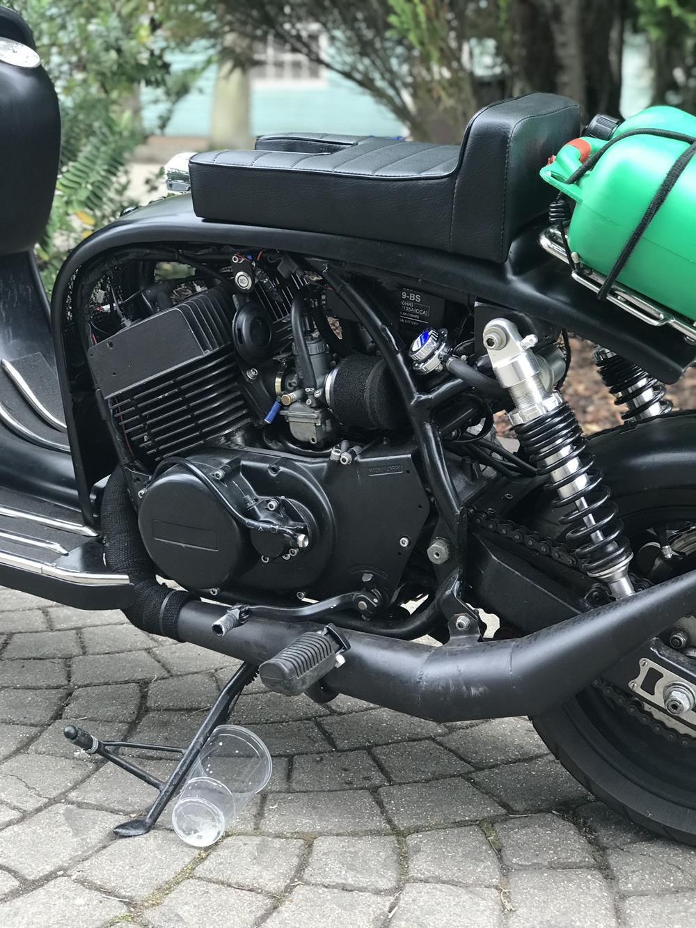 RD engine in a Lambretta