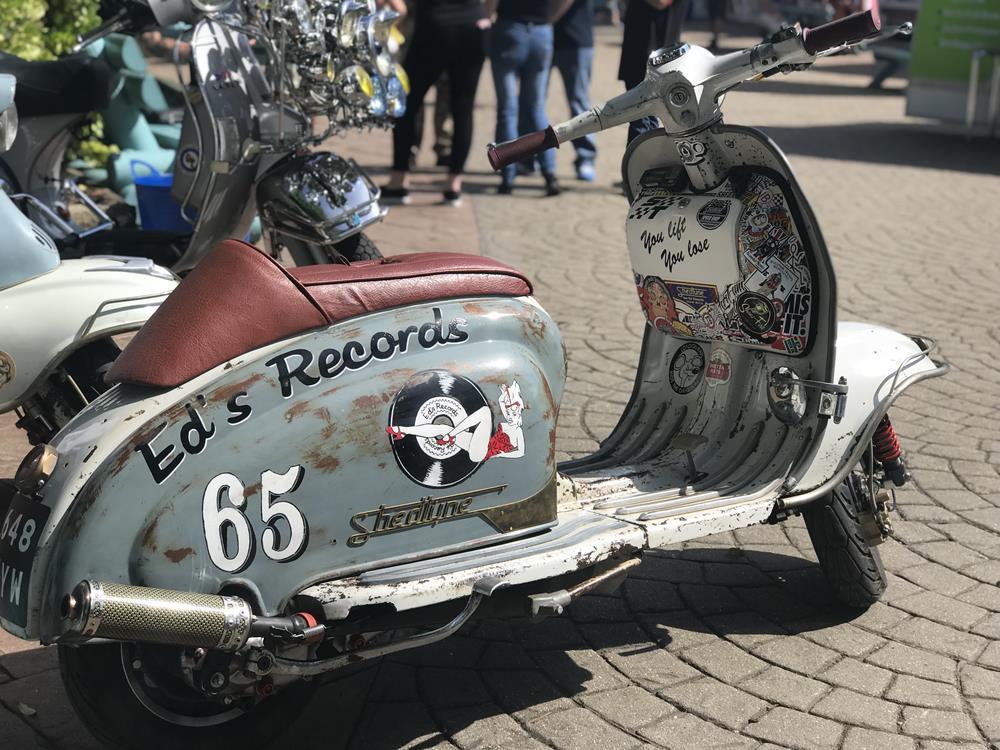 Lambretta with Ed's Record murals