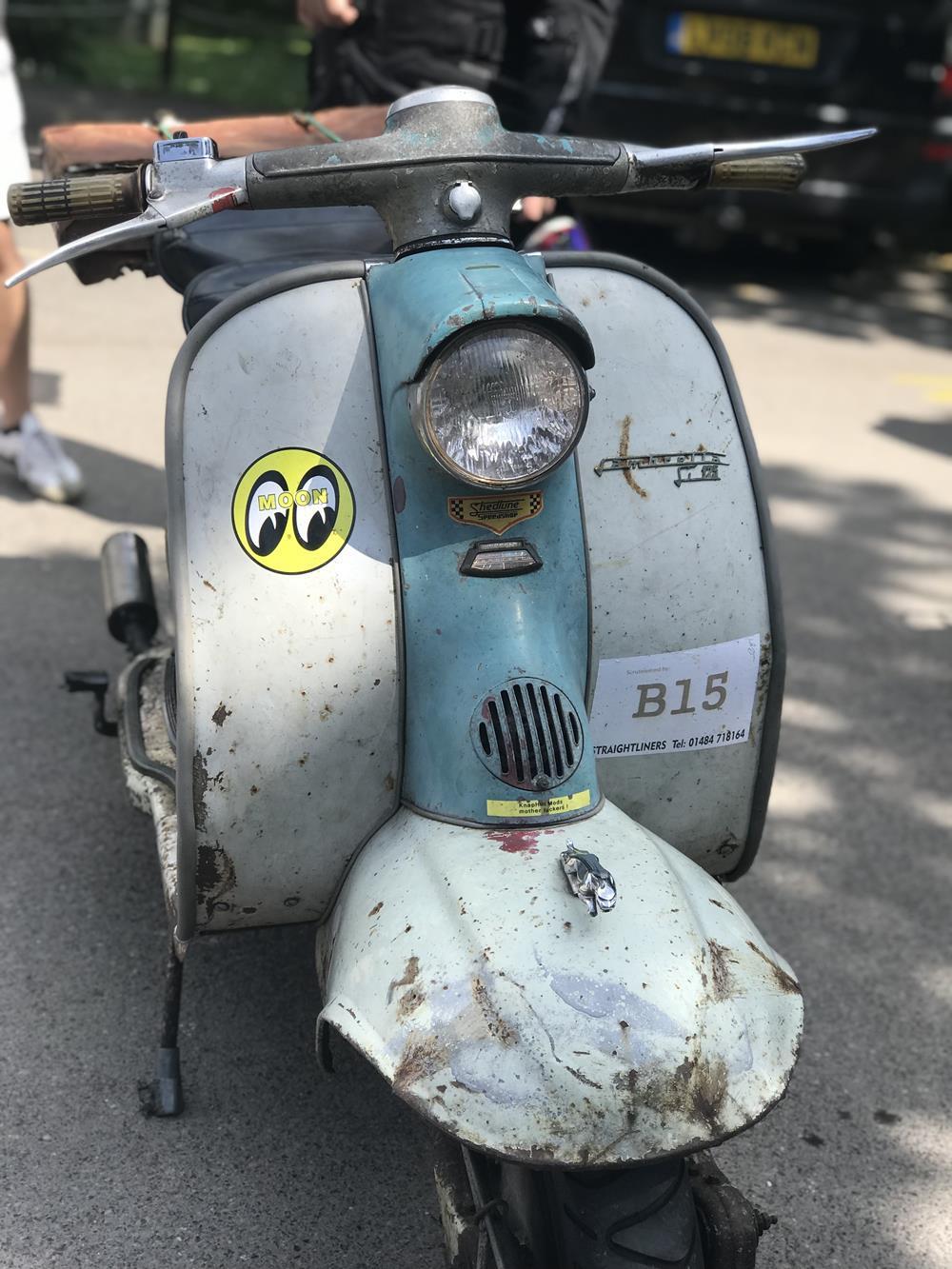 Rusty Lambretta scooter