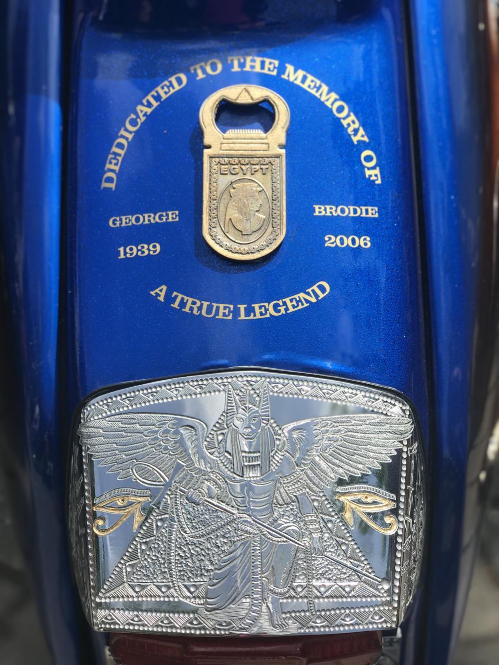 Misty Blue scooter engraved back light