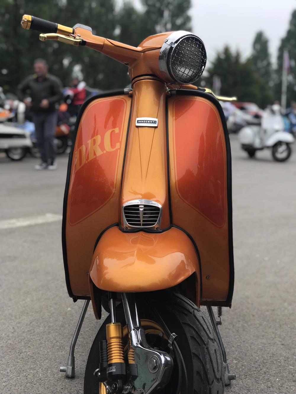 Orange Lambretta with DRC paint job
