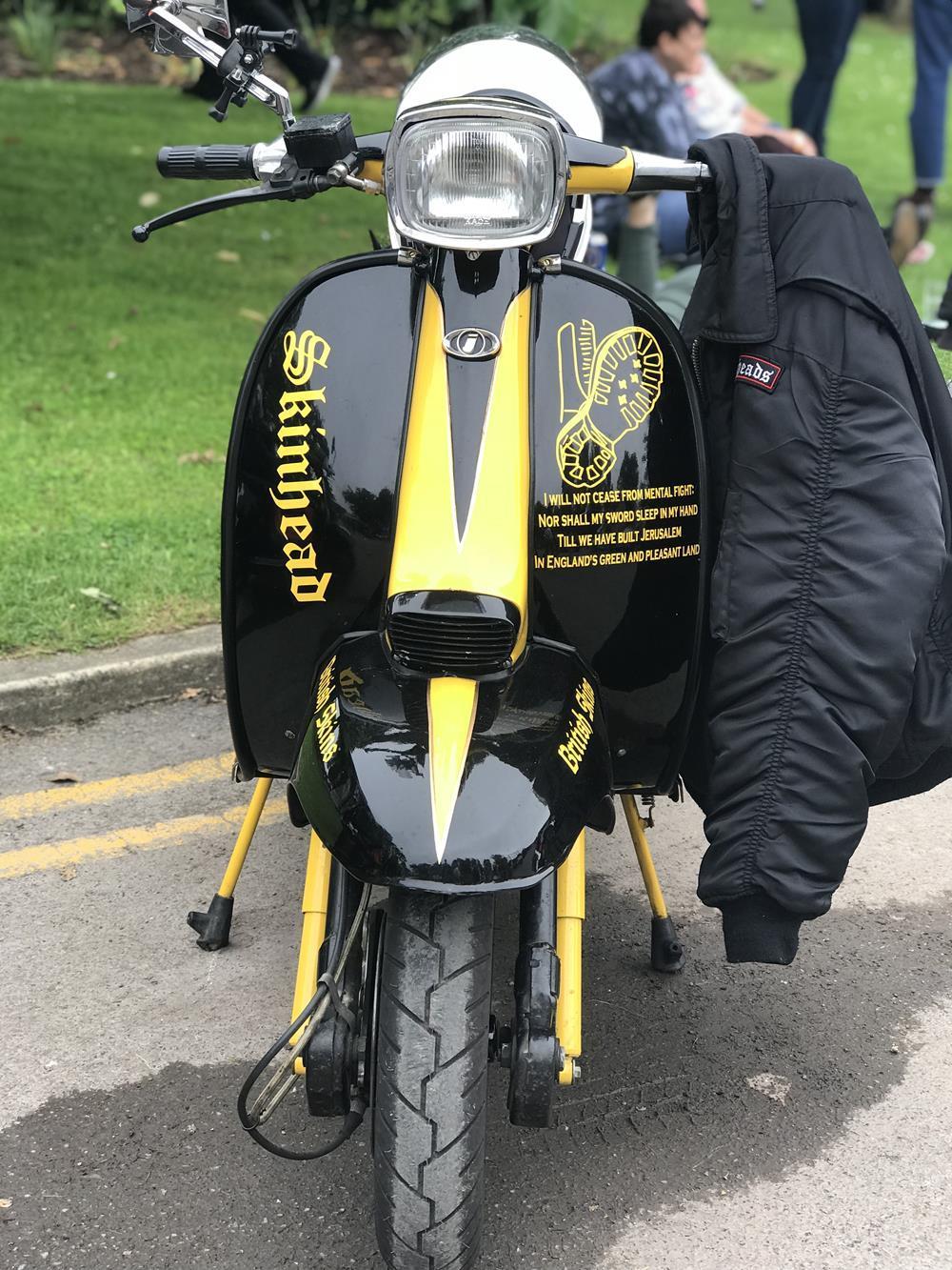 Black and yellow Lambretta GP